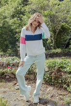 Zip Sporty Knit Pearl White