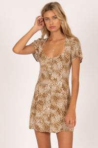 Iman Short Sleeve Woven Dress