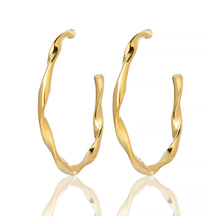 GENEVIEVE HOOP EARRINGS - Sarah Stretton
