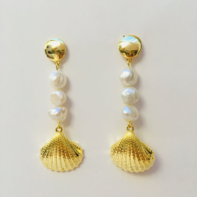 CONCH EARRINGS - GRANDE - Sarah Stretton