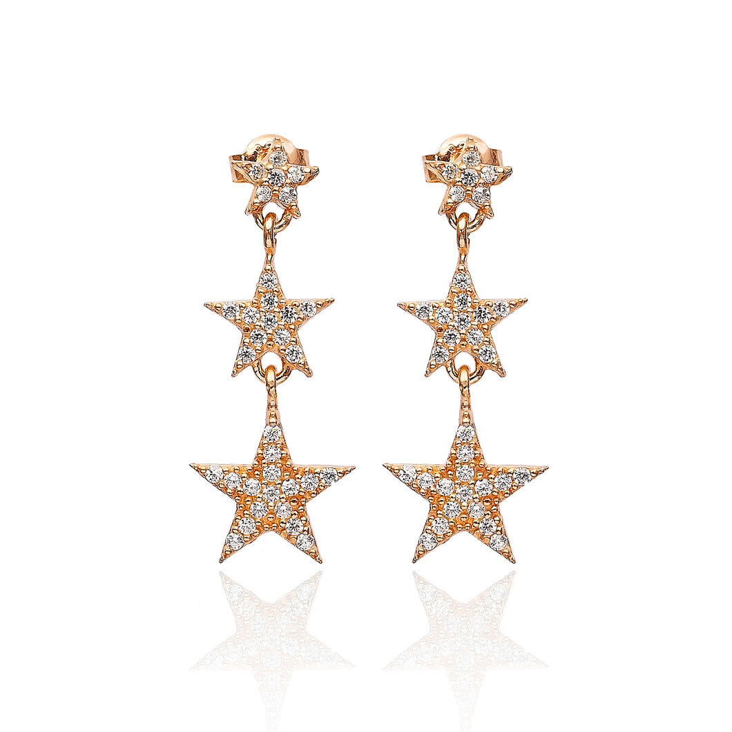 COSMIC TRIO EARRINGS - Sarah Stretton