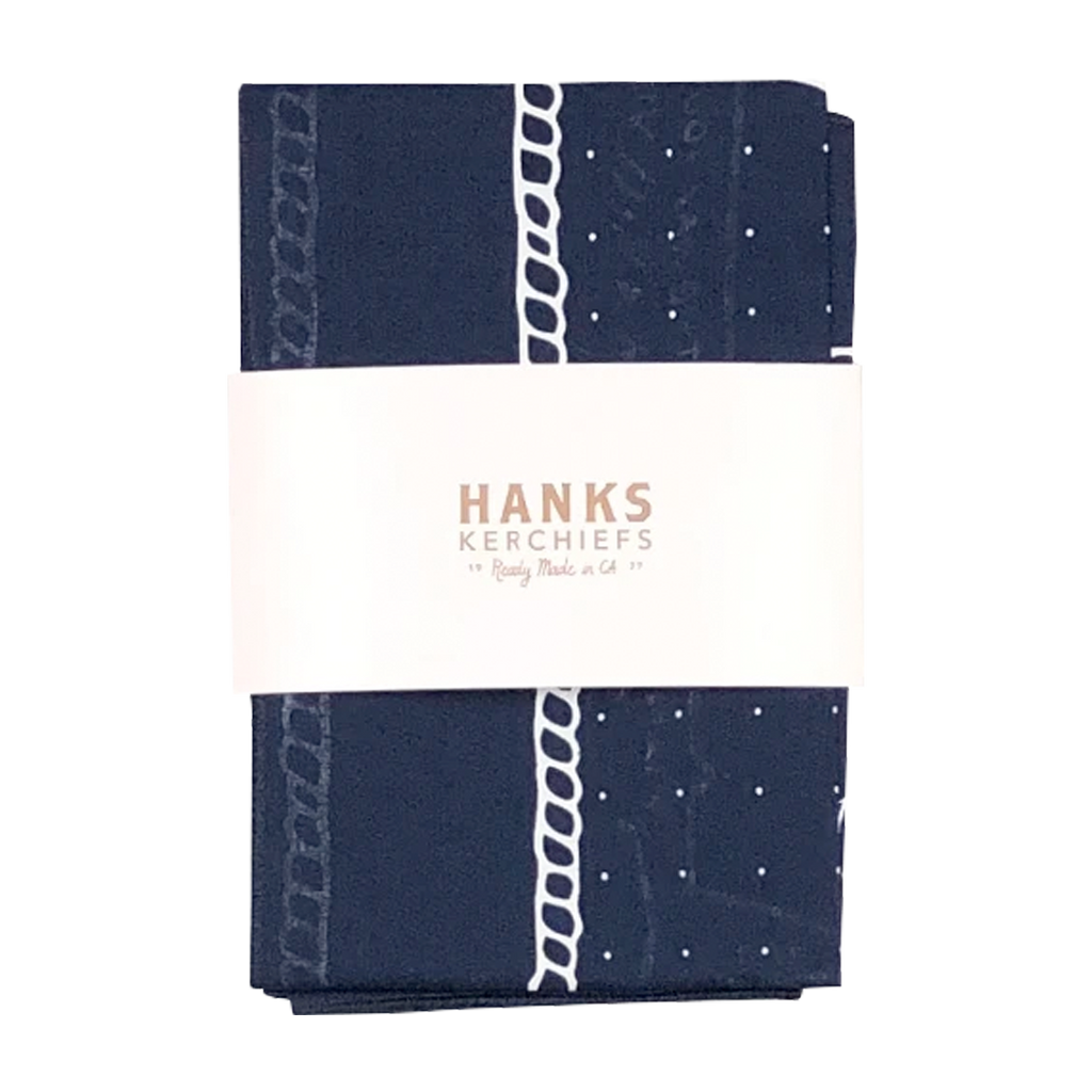 Hanks Kerchiefs X Billy Joel Shark Song Bandanna