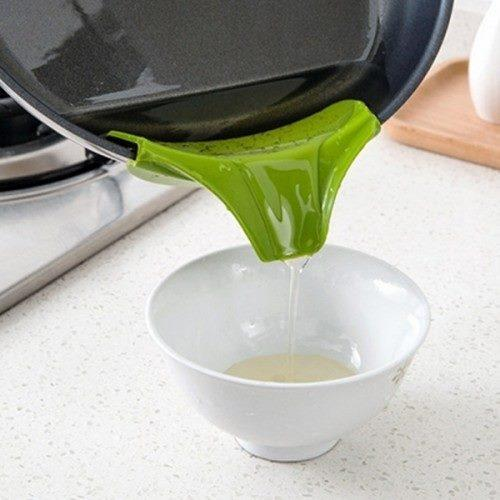Silicone Soup Liquid Funnel Water Deflector