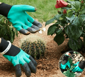 Garden Gloves With Claws- 8 Claws