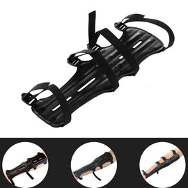 Archery Armguard, Shooting Archery Arm Guard Protection Safe Guard With 2 Rods, PU Leather, 11.8inch Length With 4 Adjustable Straps - Buywhat.today