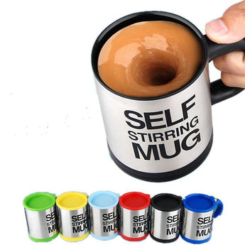 400ml Self Stirring Mug Stainless Steel Thermal Cup Smart Cup - Buywhat.today