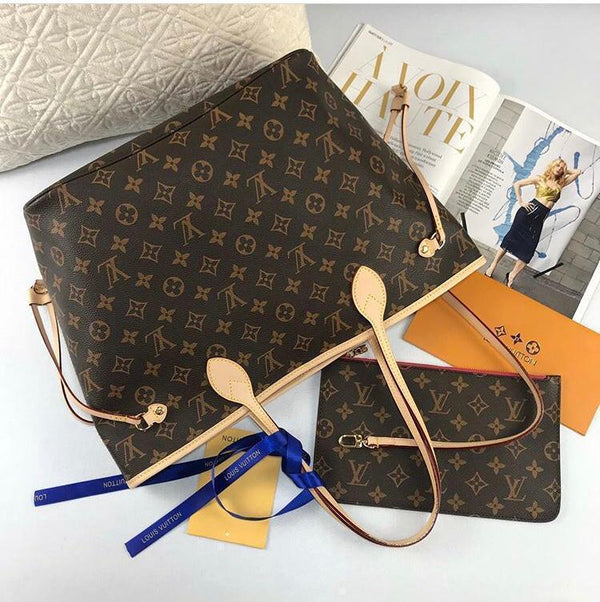 Louis Vuitton Neverfull With Pouch Women's Bag