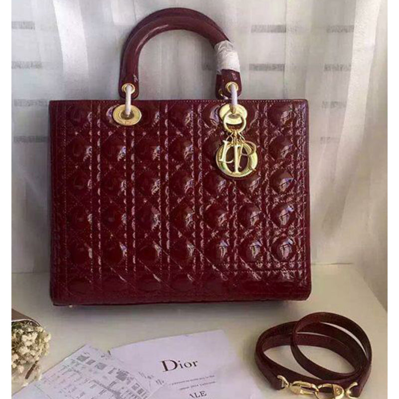 Christian Dior Lady Dior Jelly Leather