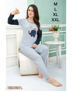 Night Suit Full Sleeve - Blue
