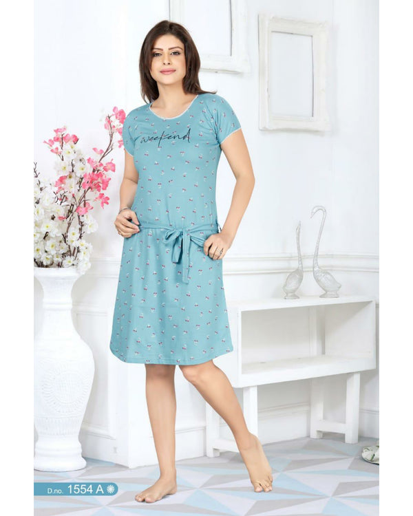 Printed Nightwear  - Green