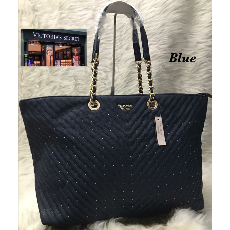 Victoria Secret Pebbled V-Quilt Tote