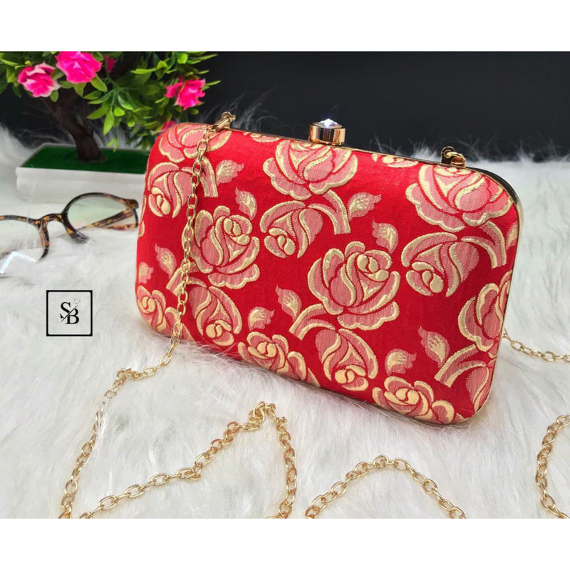 Weeding Clutch With Chain Strap - Red