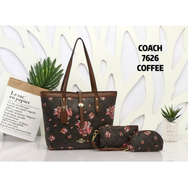 Coach Set Of 3 Handbags