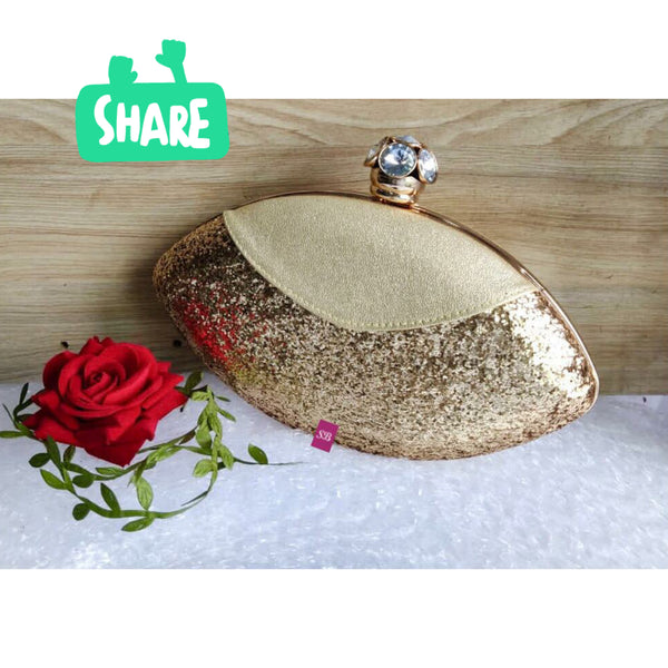 Royal Things Oval Clutch - Gold