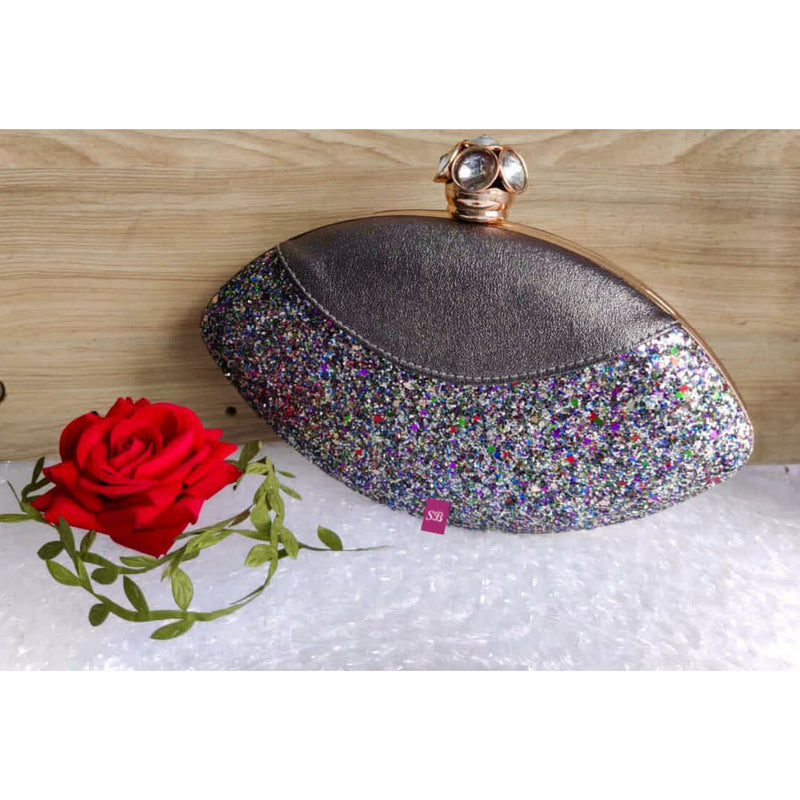 Royal Things Oval Clutch - Silver
