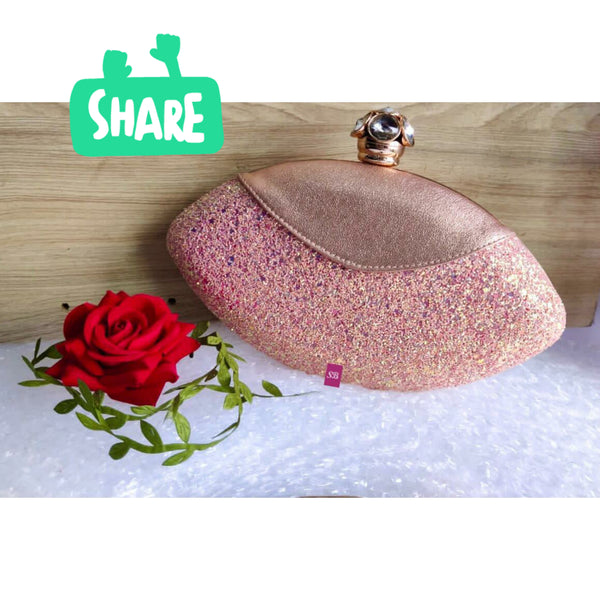 Royal Things Oval Clutch - Pink