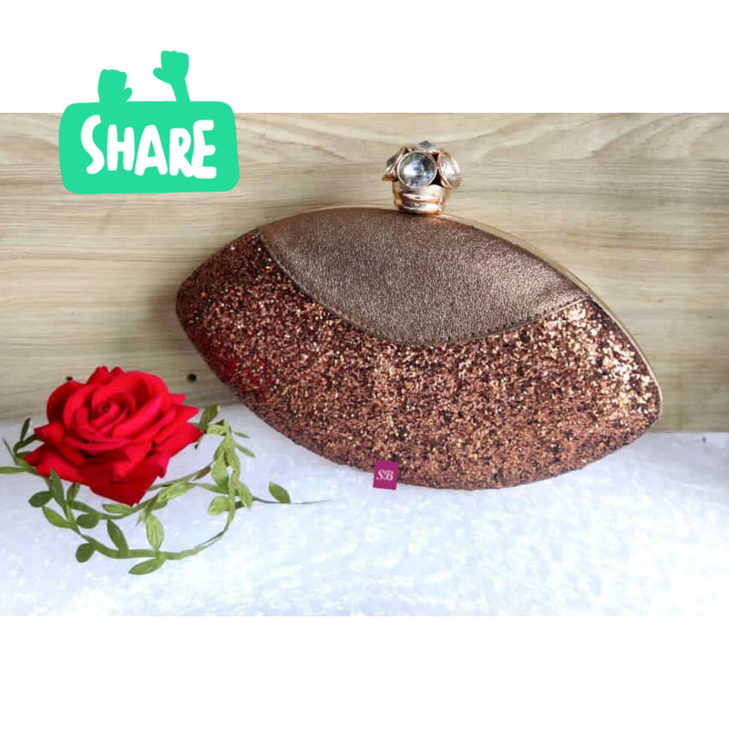 Royal Things Oval Clutch - Chocolate