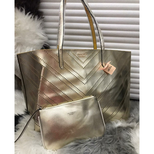 Victoria Secrets Tote With Pouch