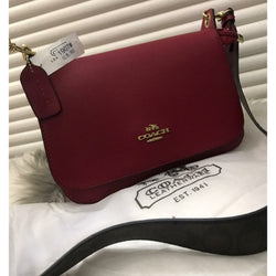 Coach Jes Messenger With Signature Canvas Strap