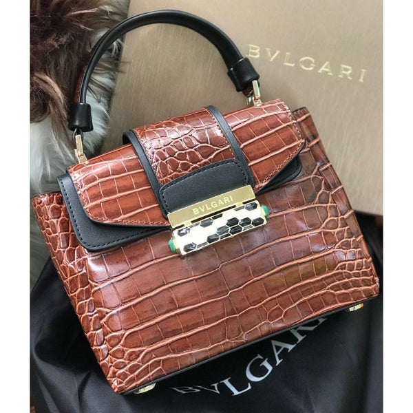 Bvlgari Serpenti Viper Croc Bag