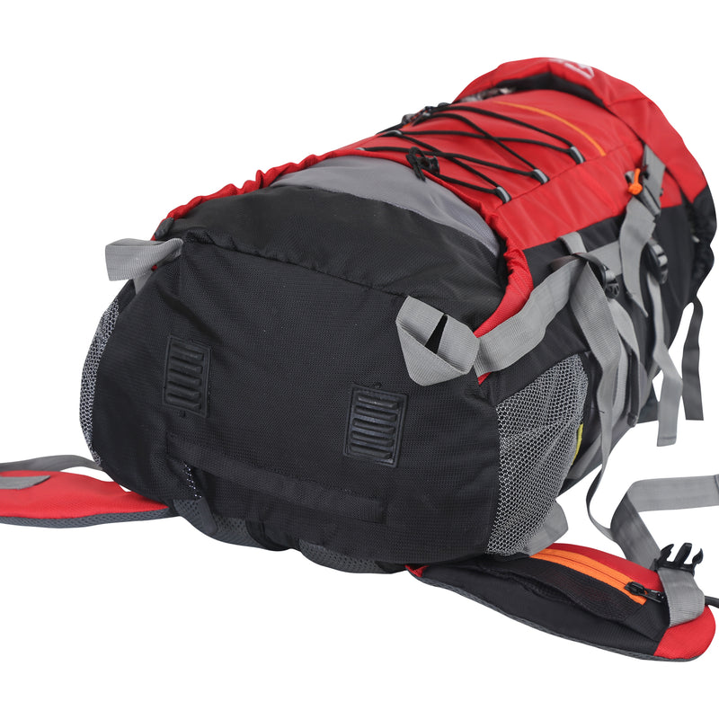 Yo! Red Hiking Camping Backpack 65L With Rain Cover
