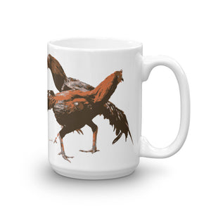 COCK FIGHT - ROUND #3 Handle Mug