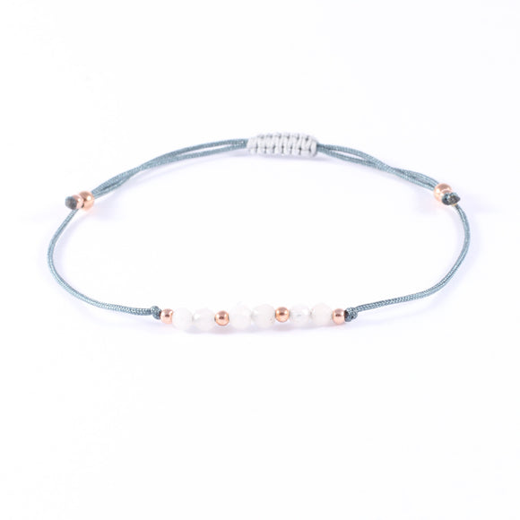 White Marmor Armband variable Bandfarbe