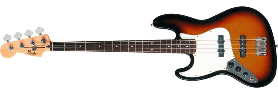 FENDER STANDARD JAZZ BASS LEFT HANDED, BROWN SUNBURST