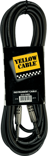 Yellow Cable Gitarkabel G46D METAL JACK/METAL JACK 20FT/6M
