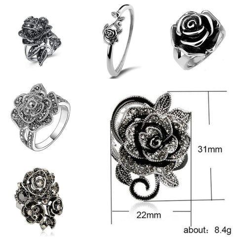 Black-Rose-Gothic-Vintage-Flower-Ring