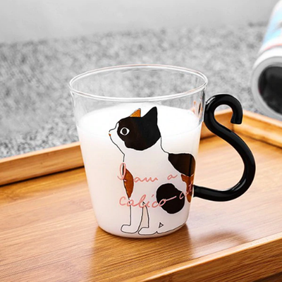 Cute Cat Glass Cup