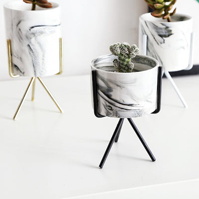 Minimal Marble Table Pot