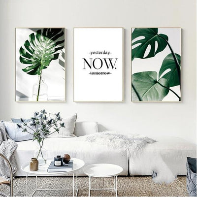 Flora Fern Art Canvas