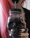Skull Design Mason Jar (450ml)