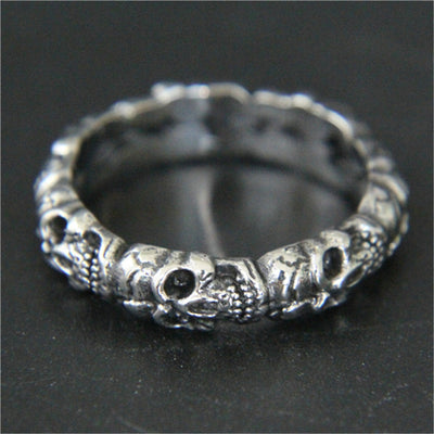1Pc Stainless Steel Cool Ghost Skull Ring