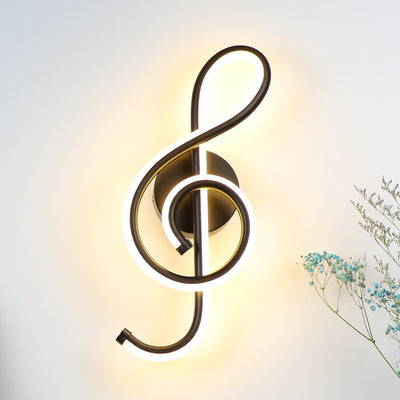 LED Music Note Wall Lamp