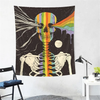 Hippie Psychedelic Carpet Wall Hanging Tapestry Moon Ouija Skull Night