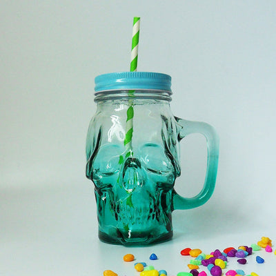 Gothic Skull Mason Jar (Glass)