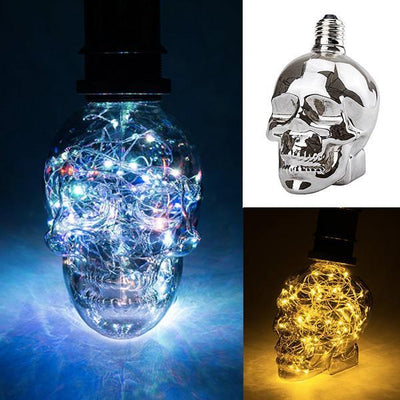 Premium Holographic Skull Lightbulb