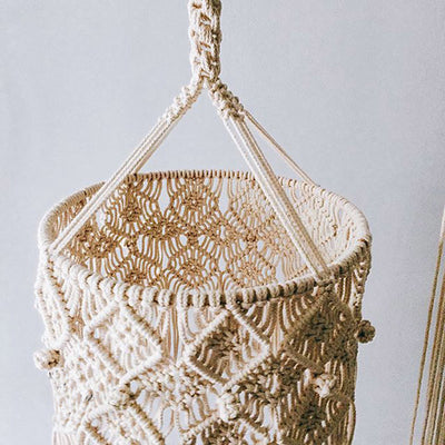 Bohemian Hand-Woven Chandelier Lampshade