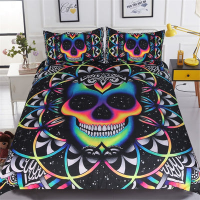 Galaxy Boho Skull Bedding Set