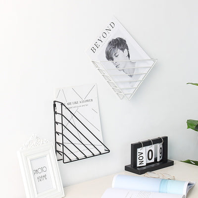 Decker Iron Frame Wall Mounted Book Holder