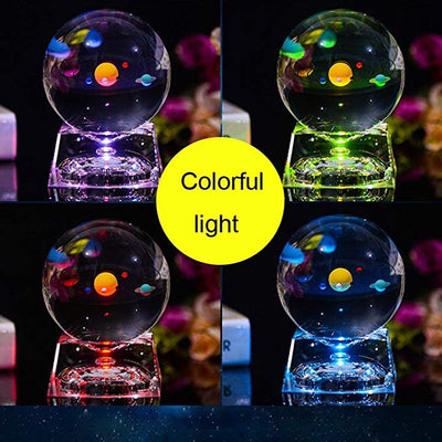 Colorful Planets Crystal Ball