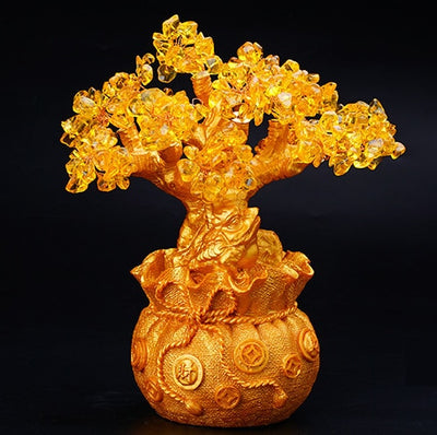 Feng Shui Citrine Money Tree Wealth Ornaments