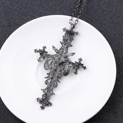 Vintage Gothic Cross Statement Necklace