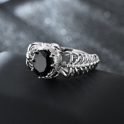 Crystal Skull Punk Cubic Zirconia Ring