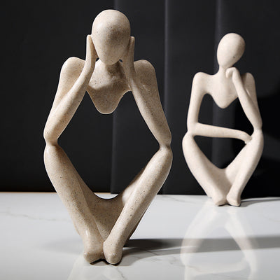 Abstract Character Sandstone Decor Figurines