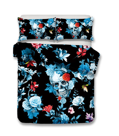 3D Skull Print Pillowcases