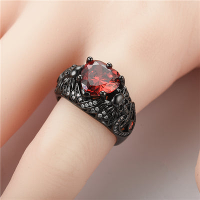Crystal CZ Skull Gothic Retro Ring