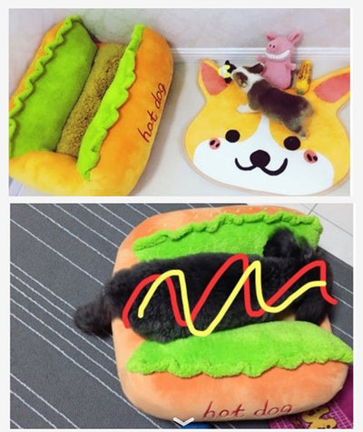 Hot Dog Pet Bed